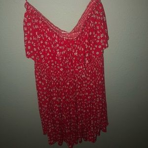 New Strapless Red Sundress